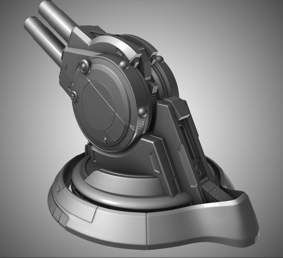 Artillery Cannon royalty-free 3d model - Preview no. 7