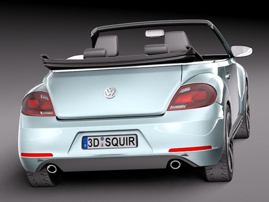 VW Beetle Convertible 2013 royalty-free 3d model - Preview no. 6