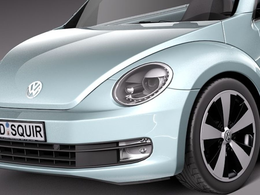 VW Beetle Convertible 2013 royalty-free 3d model - Preview no. 3