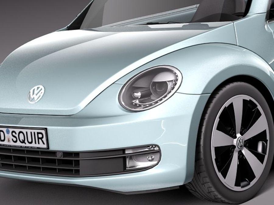 VW Beetle Convertible 2013 royalty-free modelo 3d - Preview no. 3