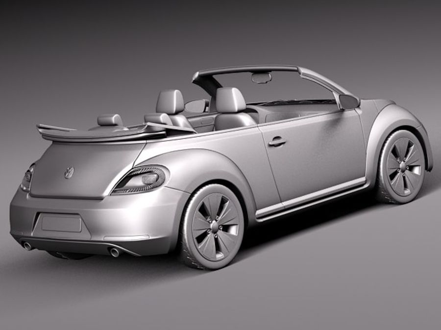 VW Beetle Convertible 2013 royalty-free 3d model - Preview no. 13