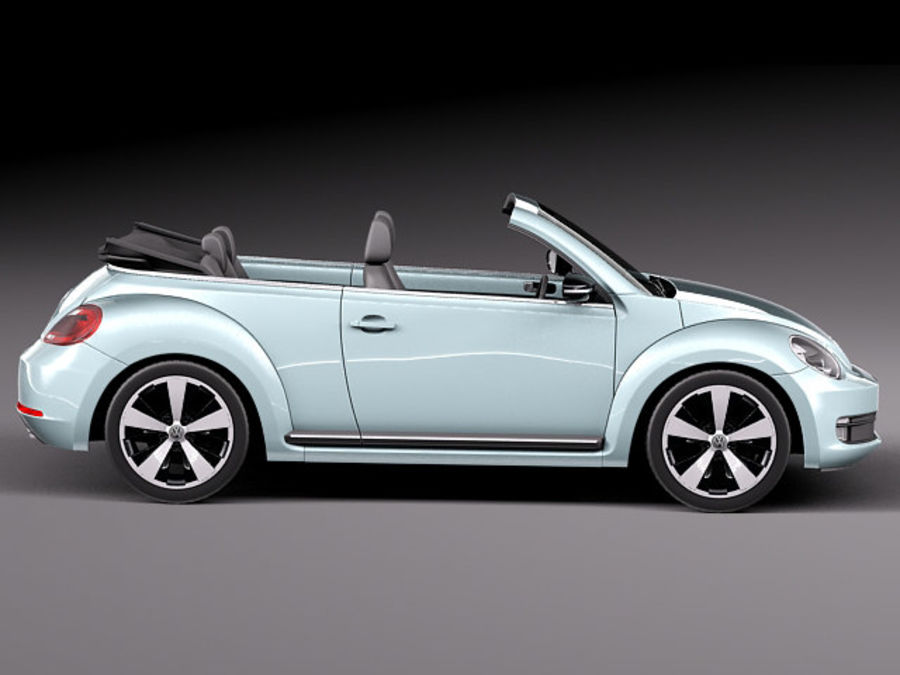 VW Beetle Convertible 2013 royalty-free 3d model - Preview no. 7