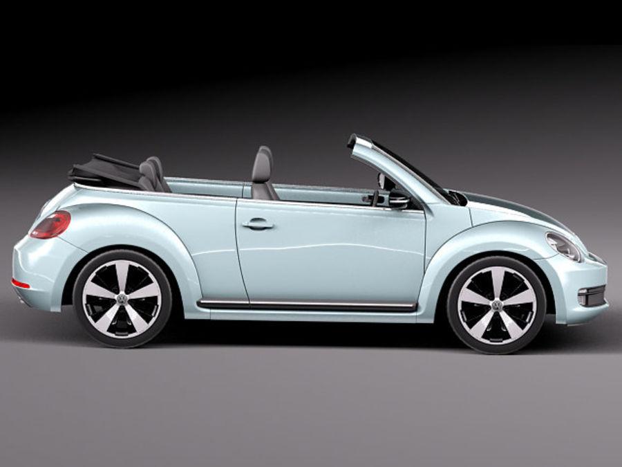 VW Beetle Convertible 2013 royalty-free modelo 3d - Preview no. 7