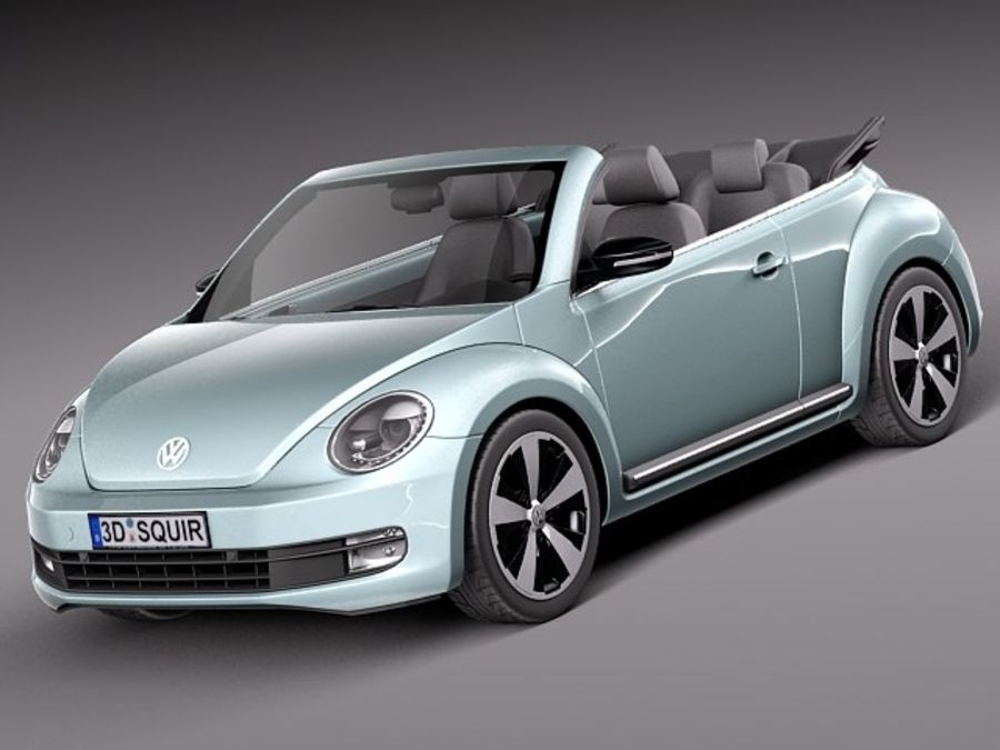 VW Beetle Convertible 2013 royalty-free 3d model - Preview no. 1