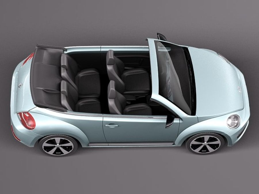 VW Beetle Convertible 2013 royalty-free 3d model - Preview no. 8