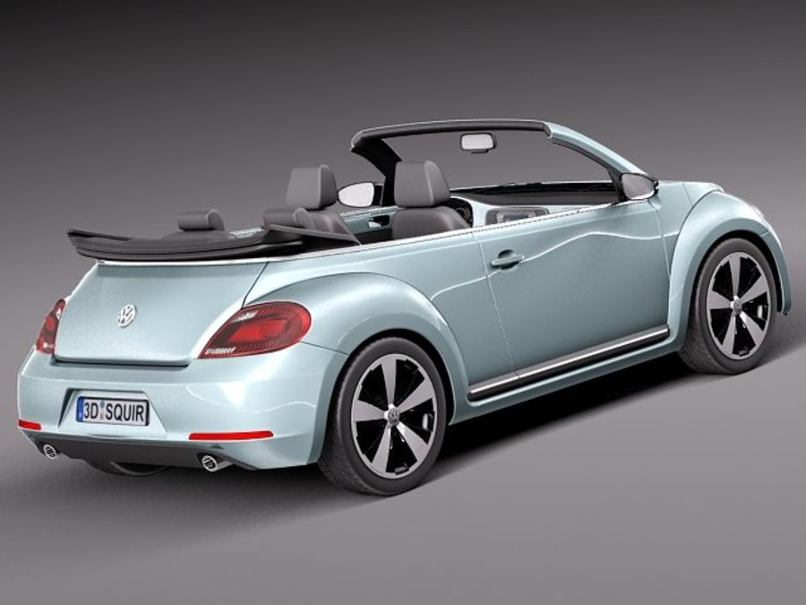 VW Beetle Convertible 2013 royalty-free 3d model - Preview no. 5