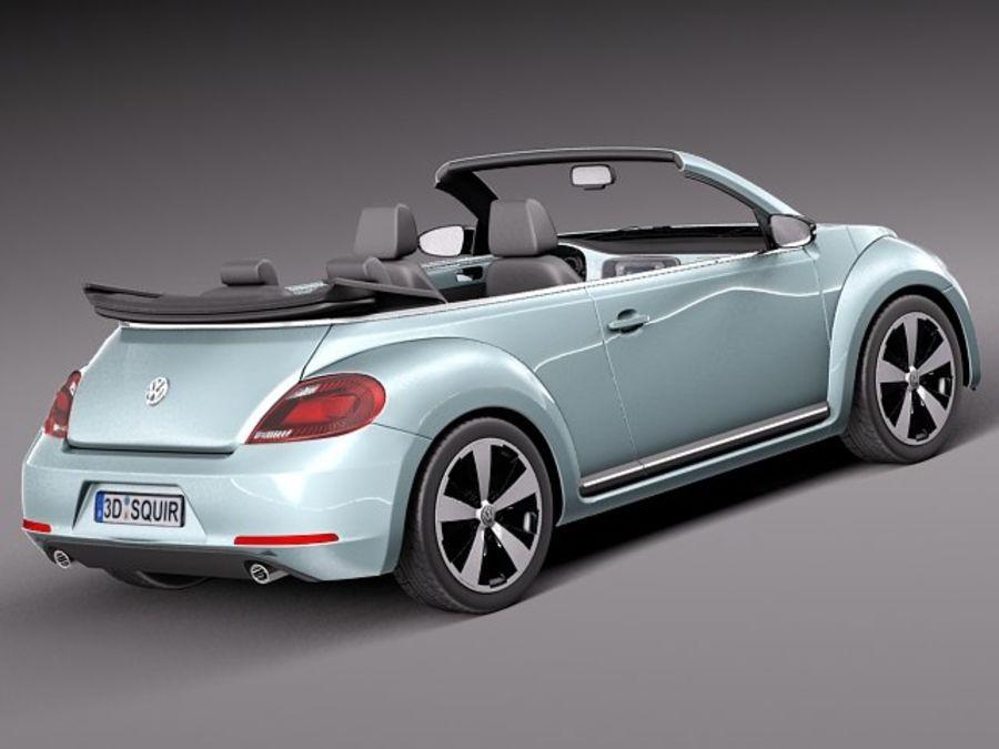 VW Beetle Convertible 2013 royalty-free modelo 3d - Preview no. 5