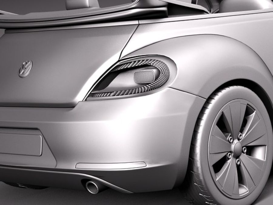 VW Beetle Convertible 2013 royalty-free 3d model - Preview no. 12