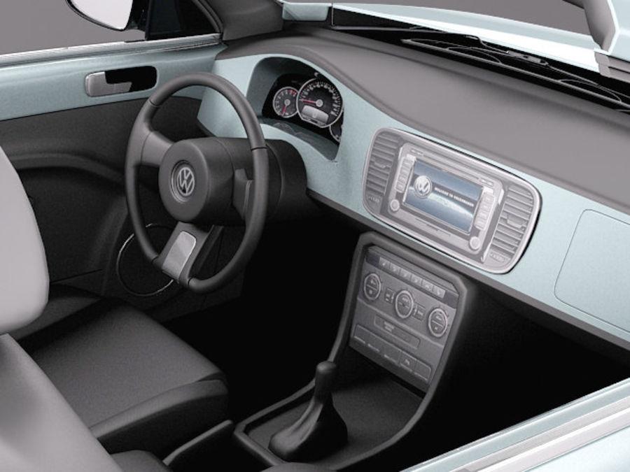 VW Beetle Convertible 2013 royalty-free modelo 3d - Preview no. 9