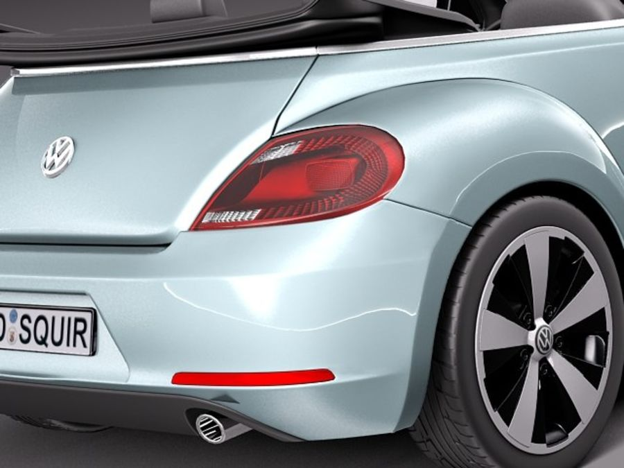 VW Beetle Convertible 2013 royalty-free 3d model - Preview no. 4