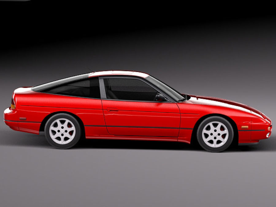 Nissan 240SX silvia S13 1989–1994 royalty-free 3d model - Preview no. 7