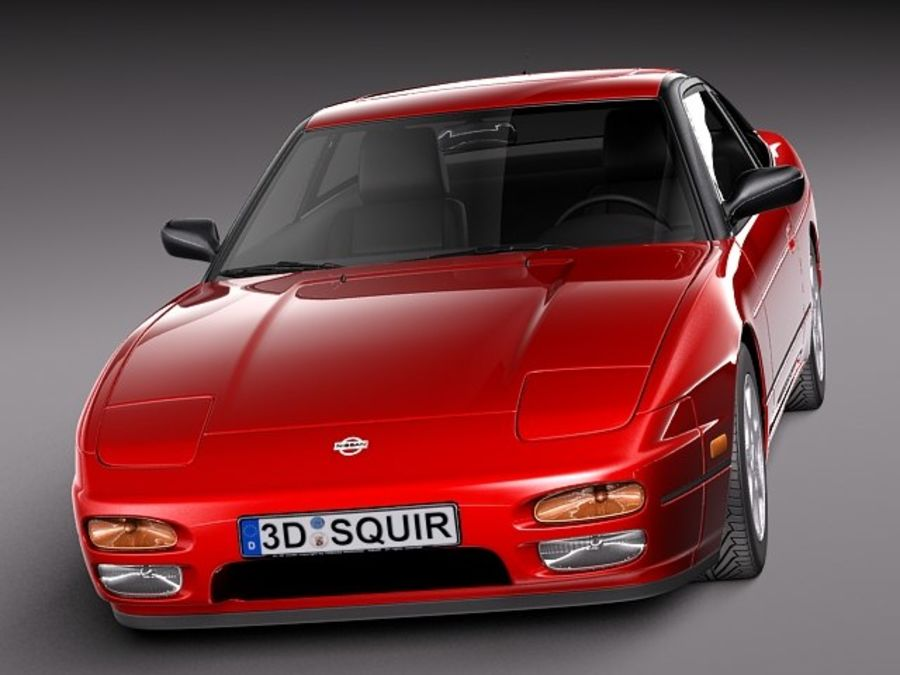 Nissan 240SX silvia S13 1989–1994 royalty-free 3d model - Preview no. 1