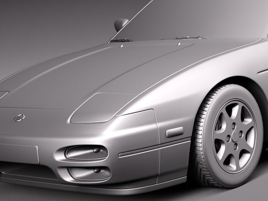 Nissan 240SX silvia S13 1989–1994 royalty-free 3d model - Preview no. 10