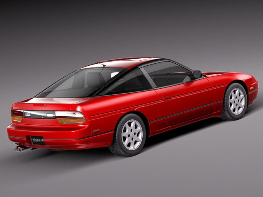 Nissan 240SX silvia S13 1989–1994 royalty-free 3d model - Preview no. 5