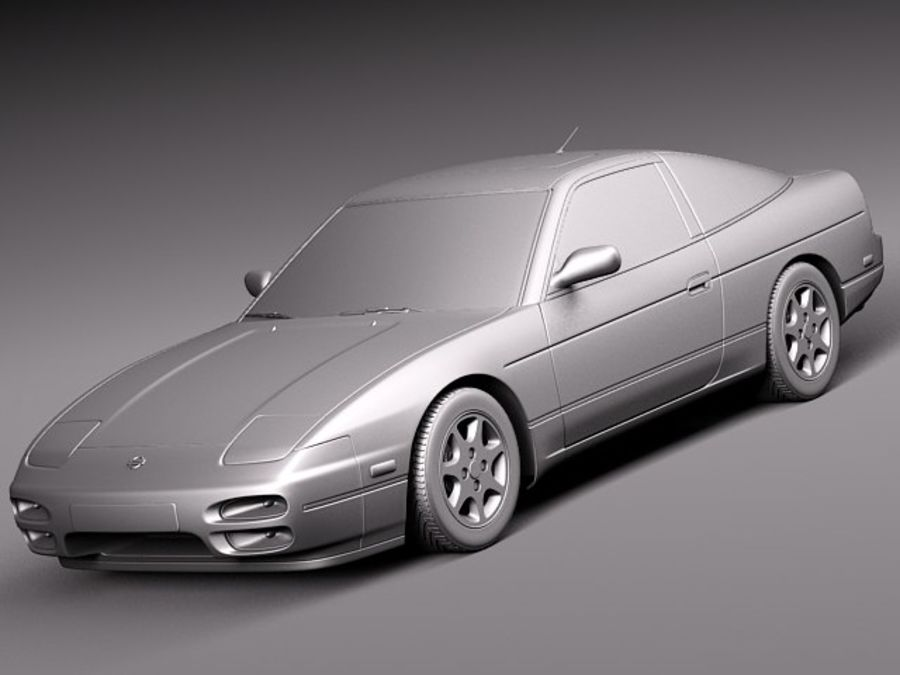 Nissan 240SX silvia S13 1989–1994 royalty-free 3d model - Preview no. 9