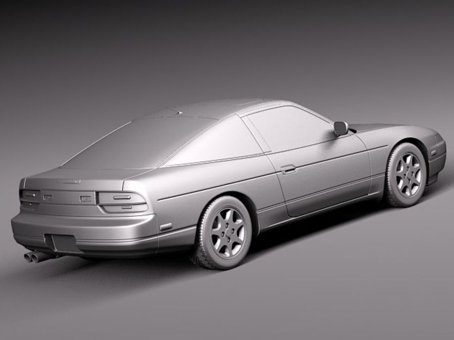 Nissan 240SX silvia S13 1989–1994 royalty-free 3d model - Preview no. 12