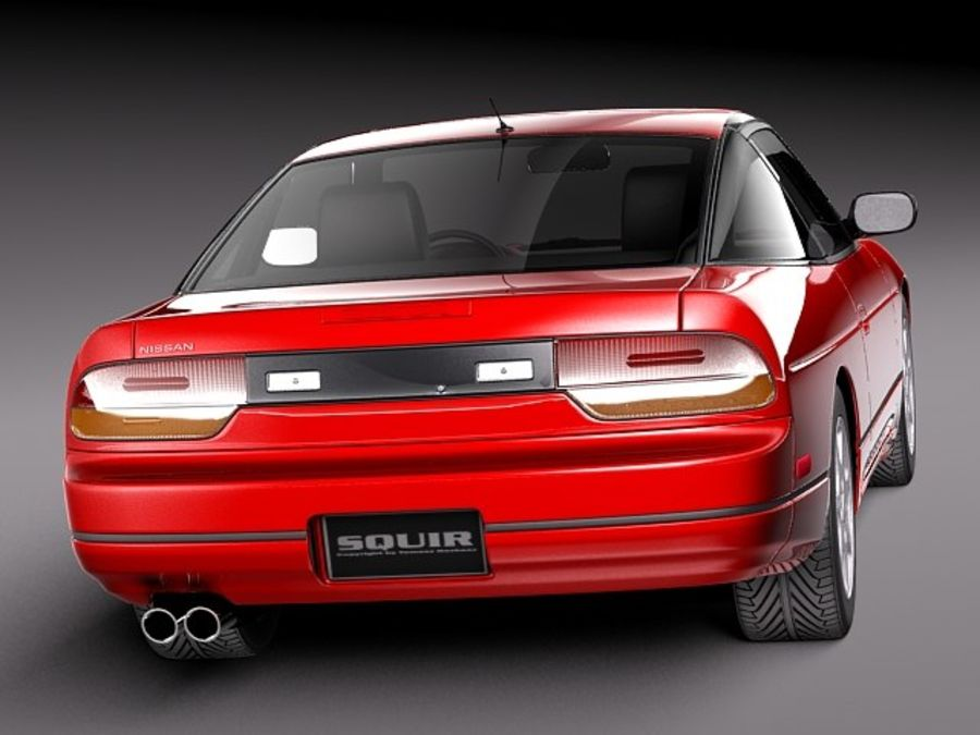 Nissan 240SX silvia S13 1989–1994 royalty-free 3d model - Preview no. 6
