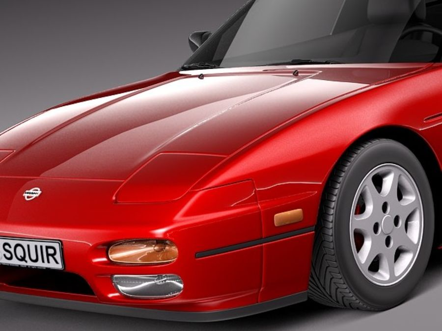 Nissan 240SX silvia S13 1989–1994 royalty-free 3d model - Preview no. 3