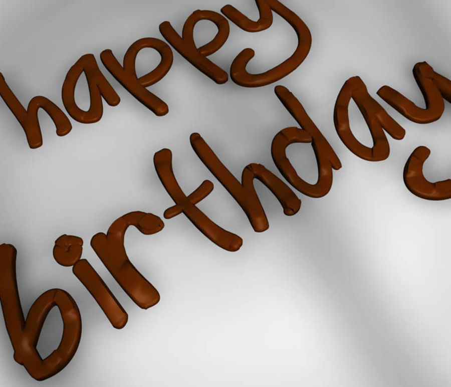 Birthday Cake royalty-free 3d model - Preview no. 3