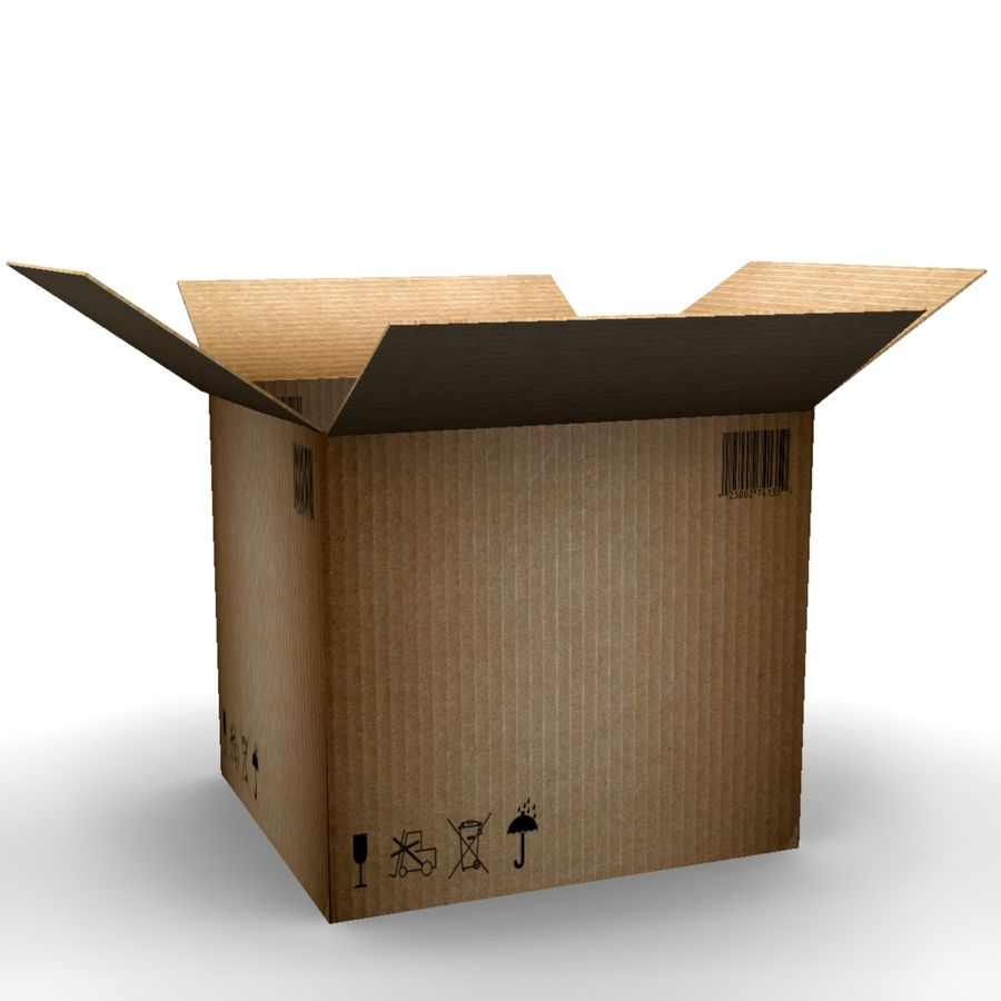 cardboard box royalty-free 3d model - Preview no. 2