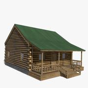 Бревенчатый домик 3d model