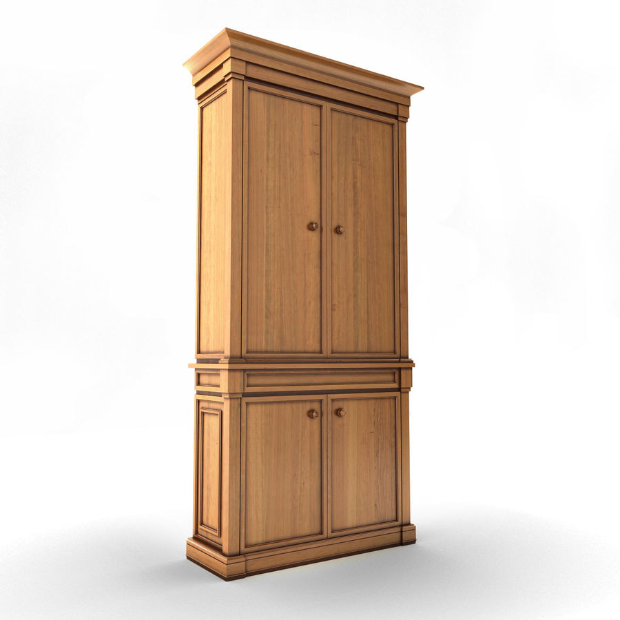 클래식 한 armoire royalty-free 3d model - Preview no. 6