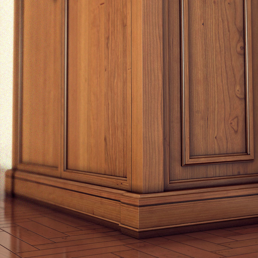 클래식 한 armoire royalty-free 3d model - Preview no. 10