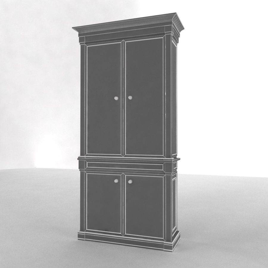 클래식 한 armoire royalty-free 3d model - Preview no. 13