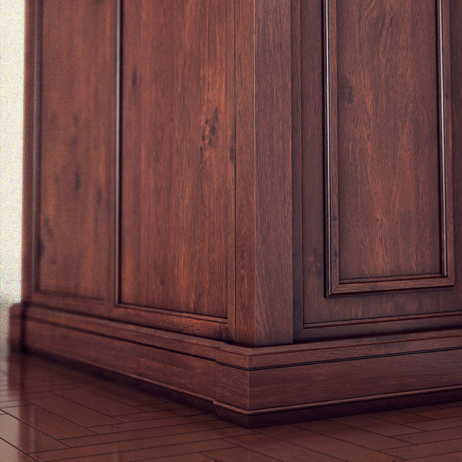 클래식 한 armoire royalty-free 3d model - Preview no. 9