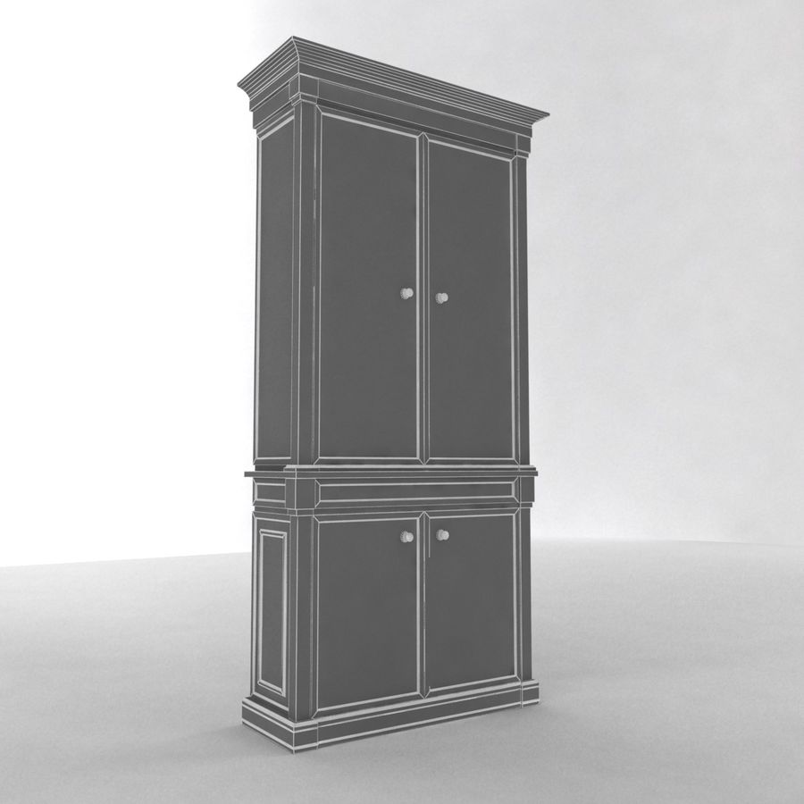 클래식 한 armoire royalty-free 3d model - Preview no. 12