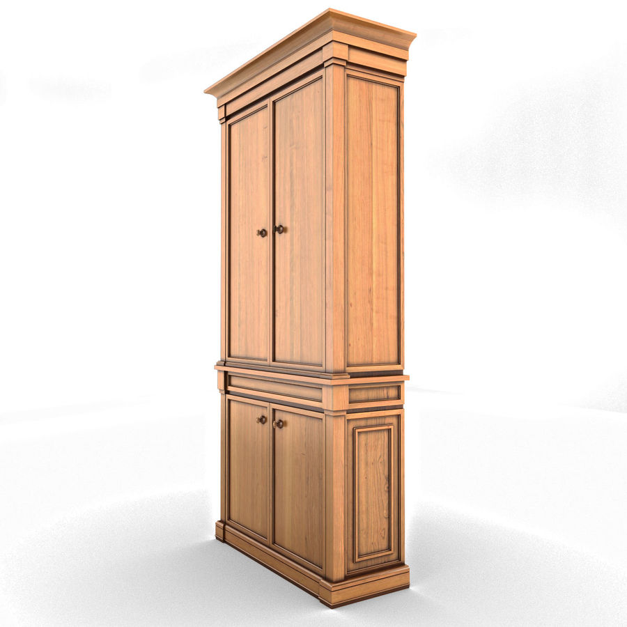 클래식 한 armoire royalty-free 3d model - Preview no. 4