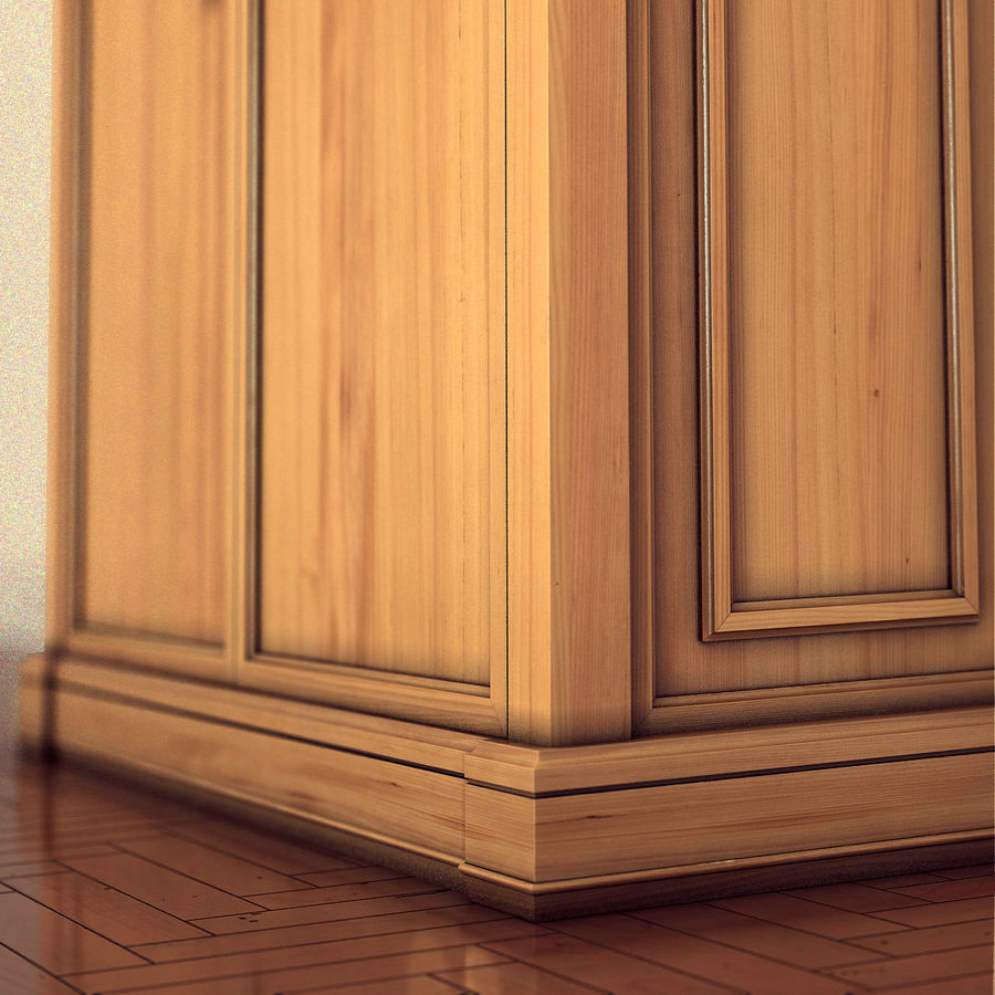 클래식 한 armoire royalty-free 3d model - Preview no. 11