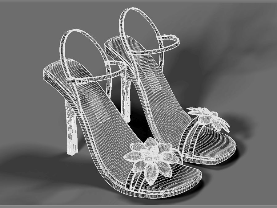 Scarpe tacco donna royalty-free 3d model - Preview no. 4