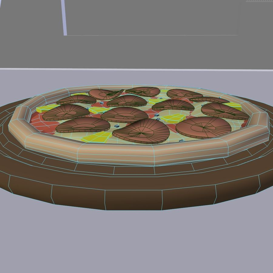 Pepperoni Pizza royalty-free 3d model - Preview no. 5