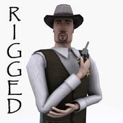Szeryf Lowpoly Rigged 3d model