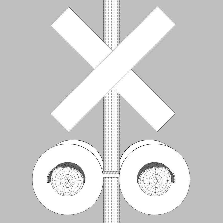 Bahn- / Bahnübergang: C4D Format royalty-free 3d model - Preview no. 16