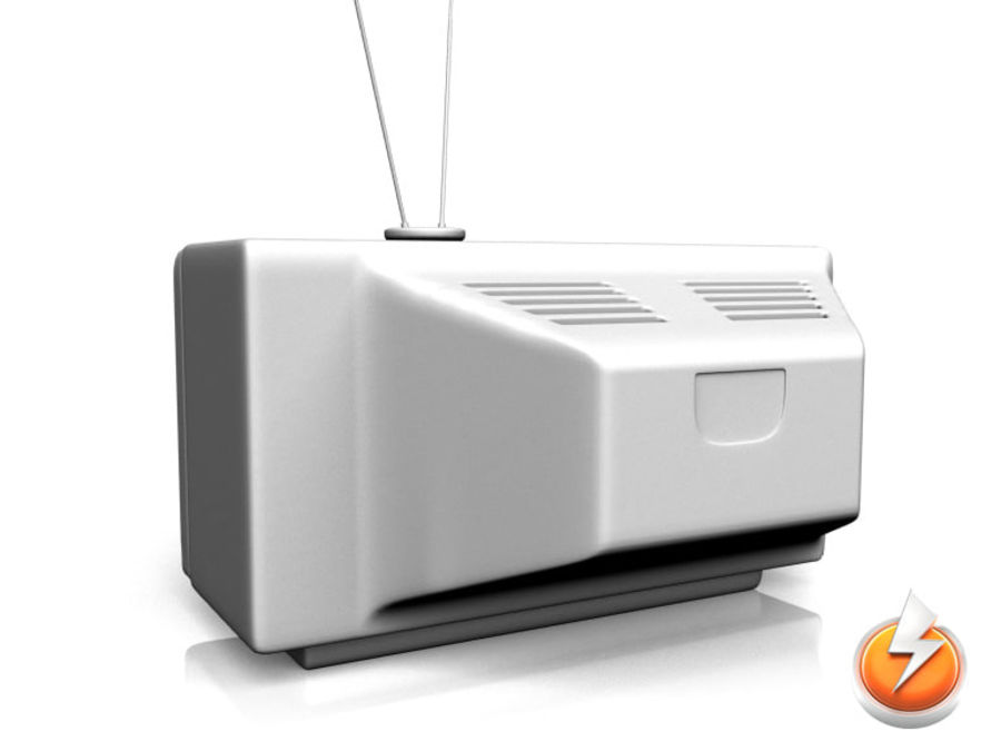 Old TV royalty-free 3d model - Preview no. 3