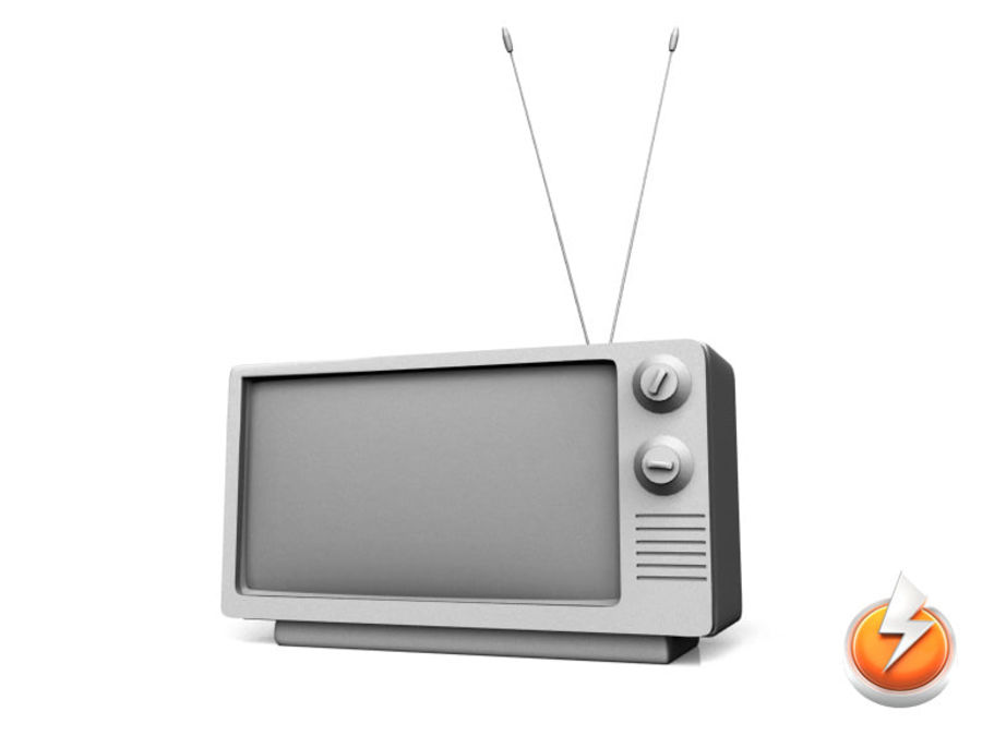 Old TV royalty-free 3d model - Preview no. 1