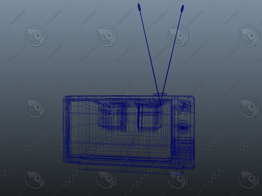 Old TV royalty-free 3d model - Preview no. 5