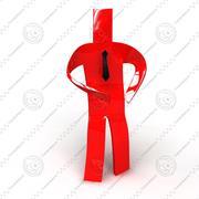 딱딱한 붉은 남자 3d model