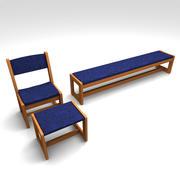 Conjunto de Mobiliário Lobby 3d model