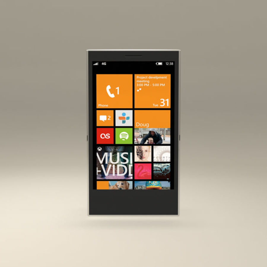 Windows Smart Phone royalty-free 3d model - Preview no. 1