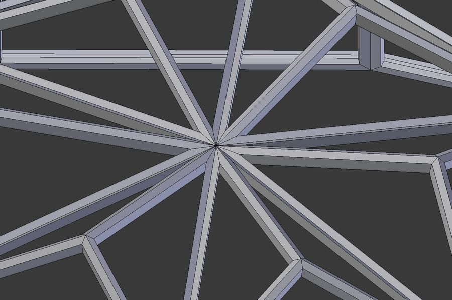Tesselation Glaskuppel royalty-free 3d model - Preview no. 10