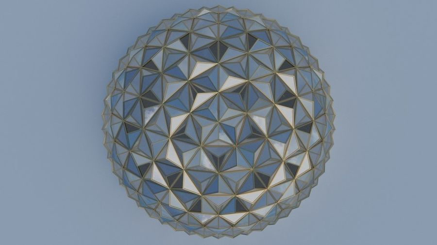 Tesselation Glaskuppel royalty-free 3d model - Preview no. 6
