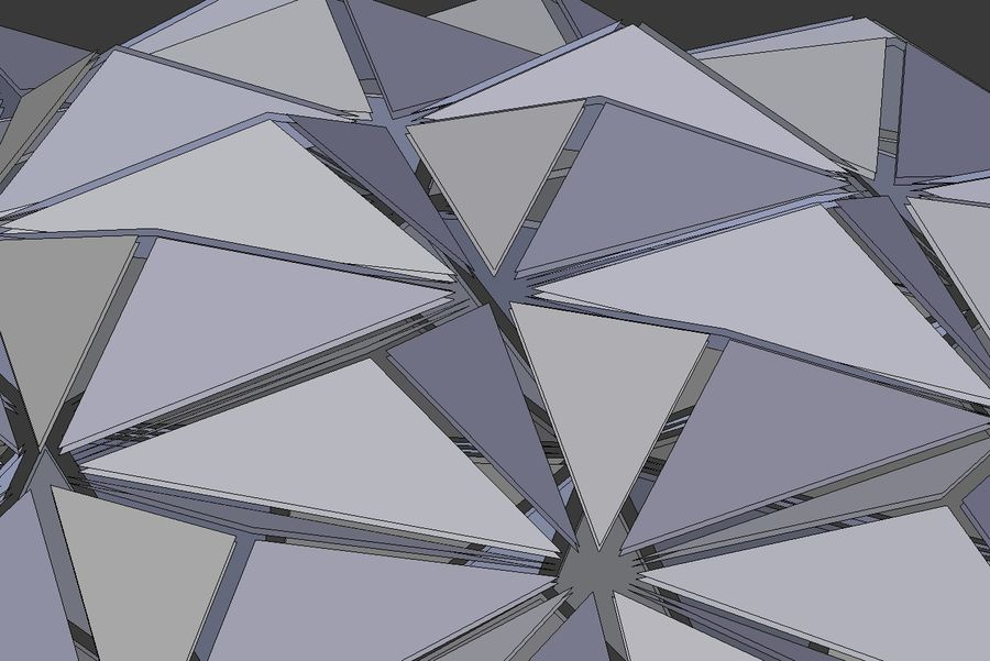 Tesselation Glaskuppel royalty-free 3d model - Preview no. 12