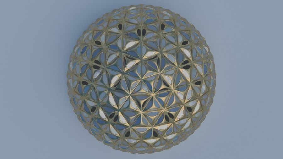 Tesselation Glaskuppel royalty-free 3d model - Preview no. 5