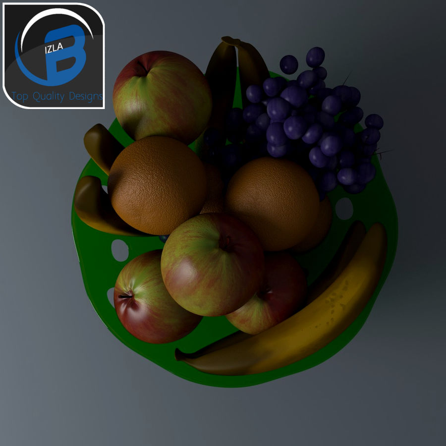 ciotola da frutta royalty-free 3d model - Preview no. 2