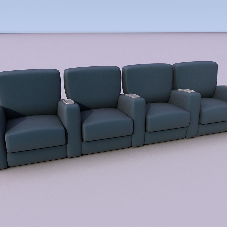 Armchair 008 royalty-free 3d model - Preview no. 7