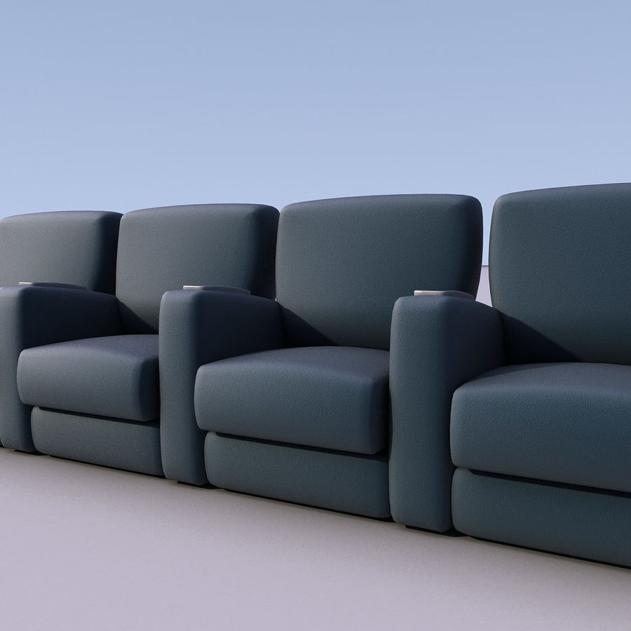 Armchair 008 royalty-free 3d model - Preview no. 1