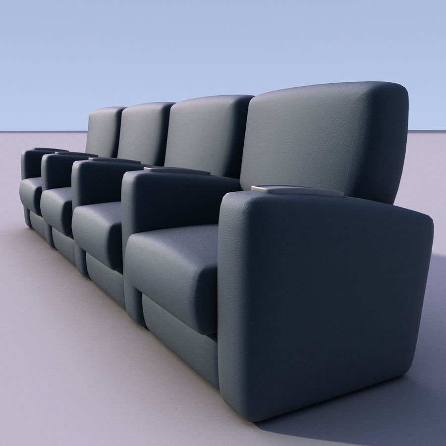 Armchair 008 royalty-free 3d model - Preview no. 4